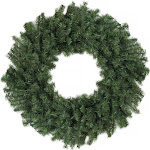 """Northlight Canadian Pine Artificial Christmas Wreath, Green, 24"""""""