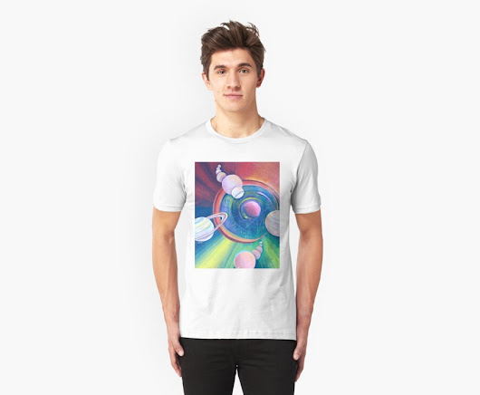 'Planetary Alignment' T-Shirt by Giselle Luske