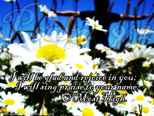 Inspirational illustration of Psalm 9:2