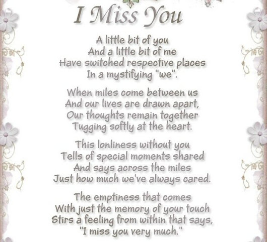 I Miss You Poems Poems About Love For Kids About Life