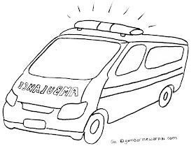 Sketsa Mobil Polisi