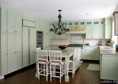 Cozinha com estilo de fazenda