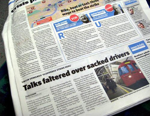 Tube Strike over sacked drivers