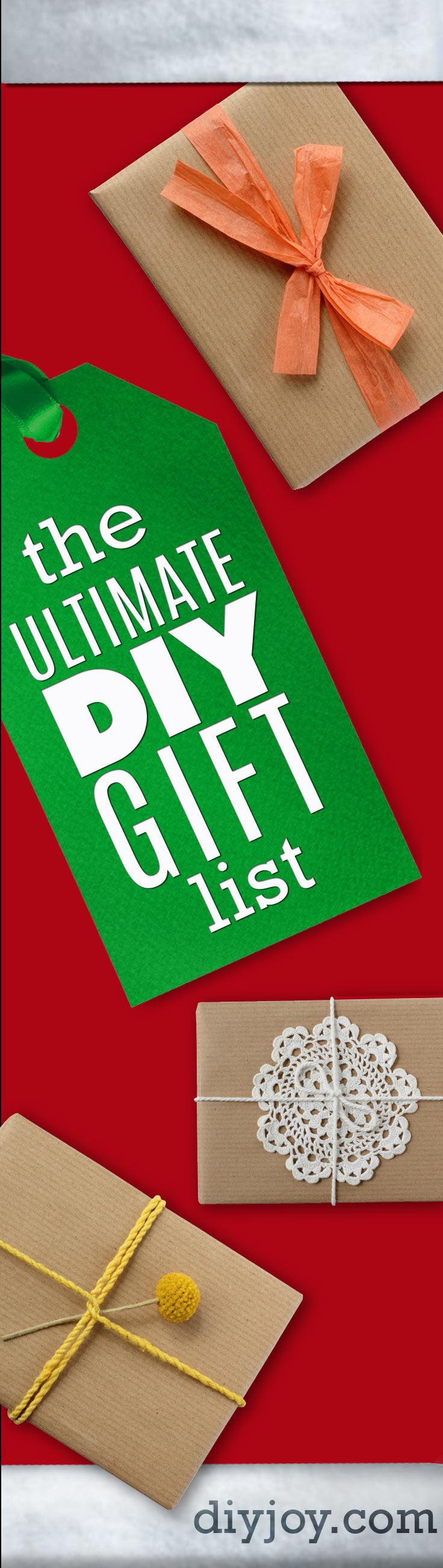 The Ultimate DIY Christmas Gifts list