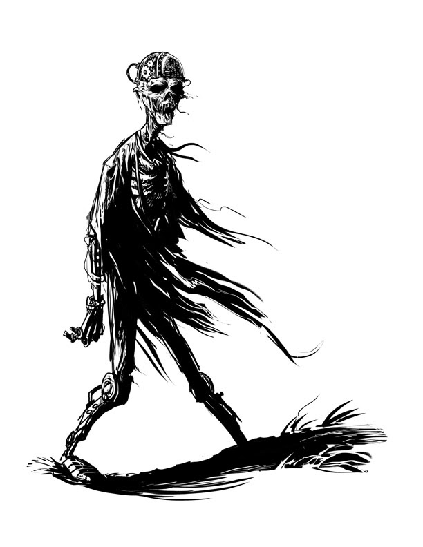 Victoriana Clockwork Zombie by ScottPurdy