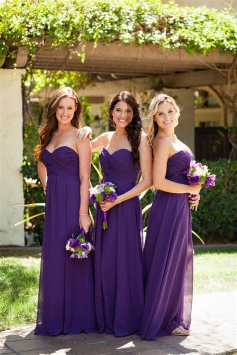 Beachy, Purple Strapless Bridesmaid Dresses   Wedding
