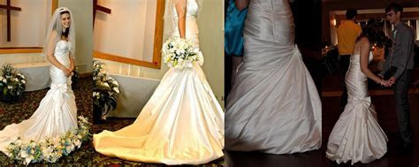 assymetrical wrap bubble wedding dress bustle   Pure and