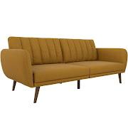 official photos f7507 a0338 12% Off Nemo Cheery Modern Soft Linen Sleeper Futon Sofa ...