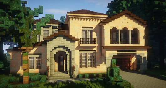 Mediterranean Style | Traditional House – Minecraft Building Inc