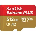 SanDisk - Extreme 512GB microSDXC UHS-I Memory Card