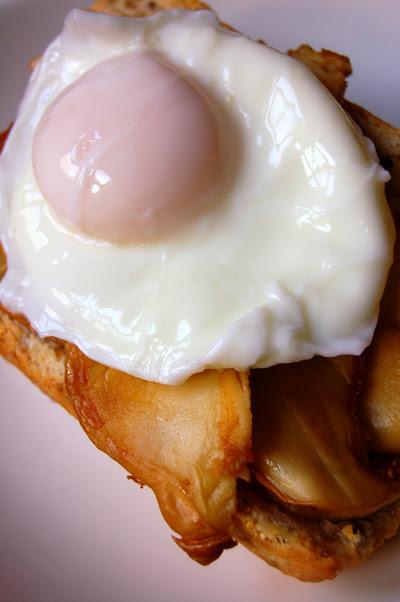 egg and mushroom