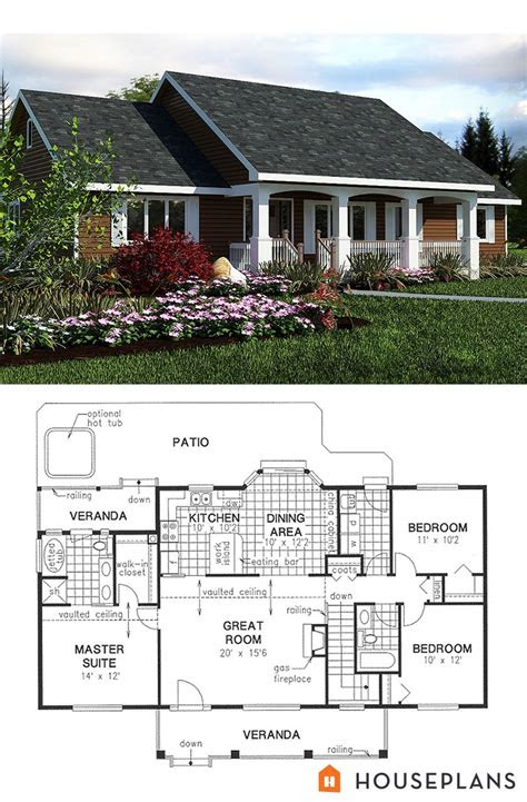 simple country house plan sft bedroom  bath house