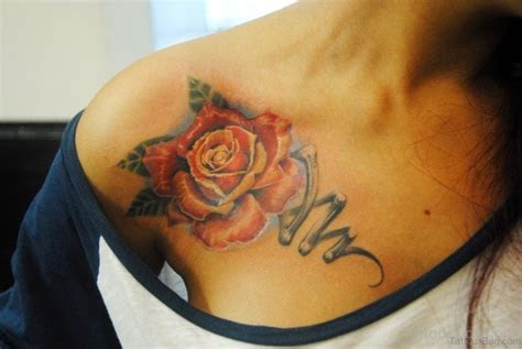 mind blowing rose tattoos chest