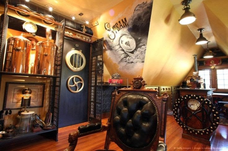 Wow! Great pimped out Steampunk Room! #Interior Design #Home Decor