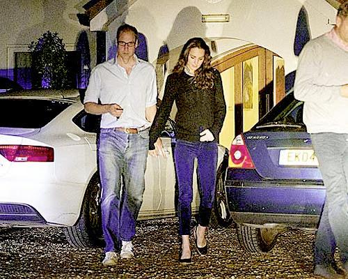 Kate i William na kolacji / Królowa na przejażdżce konnej w Szkocji.