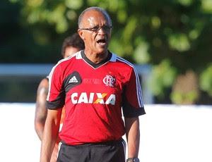 Jayme de Almeida no treino do Flamengo (Foto: Ivo Gonzalez / Agência O Globo)