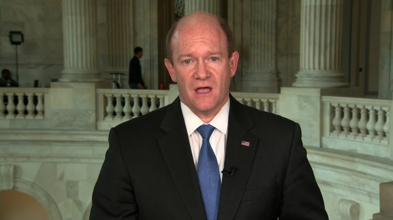 In a letter, Sen. Chris Coons (D-Del.) also cites concern over the resignation of Acting Assistant Attorney General Dana Boente.