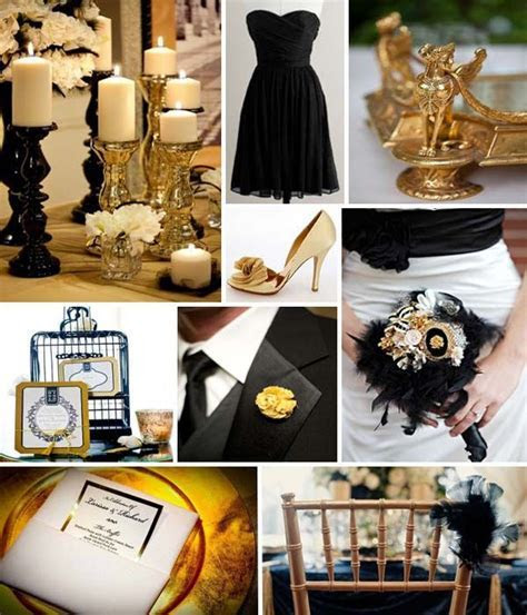 Black and Gold Wedding Theme Ideas: From Favors to