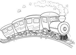 Tren Para Colorear