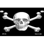 Smart Blonde MP-412 7 x 4 in. Skull & Crossbones Novelty Metal Motorcycle Plate