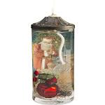 Vintage Santa Postcard Oil Candle