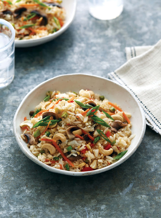 Cashew Mushroom Fried Rice » Mary Makes Good