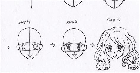 lets draw  drawing anime face step  step