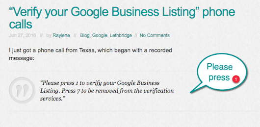 "Are they really calling to ""Verify my Google Business Listing""?"