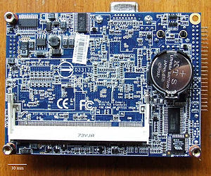 Bottom view of EPIA PX10000G Motherboard.