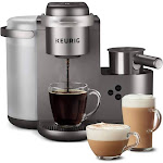 Keurig K-Cafe Single Serve Coffee Maker, Silver/Grey