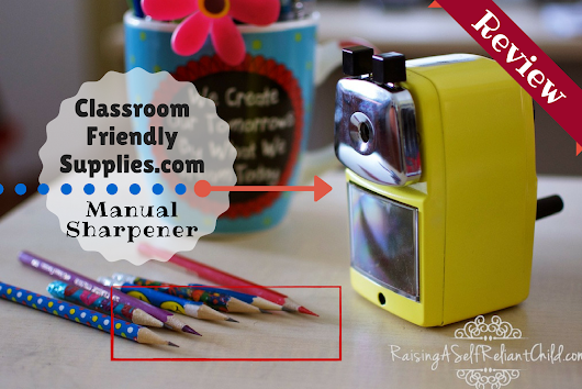 Manual Pencil Sharpener Review Giveaway Classroom Friendly Supplies