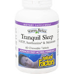 Tranquil Sleep By Natural Factors - 60 Chewable Tablets