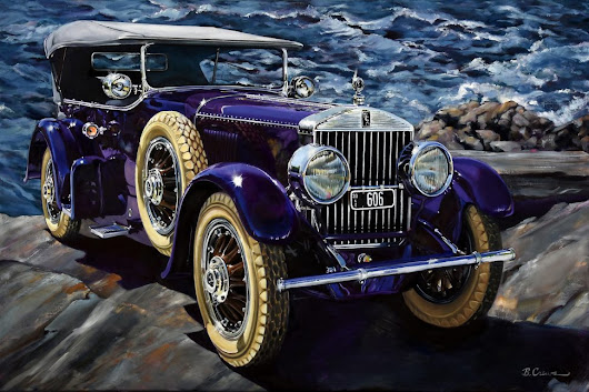 Automotive fine art display at 2017's The Elegance a | Hemmings Daily