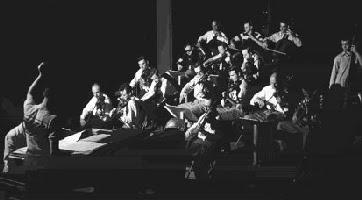 Een repetitie van het Innovations Orchestra in 1950 (foto: website Stan Kenton)