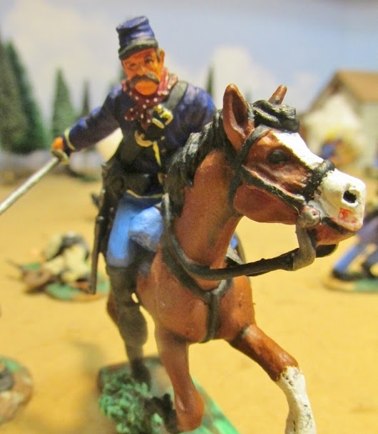 US Cavalry 1861-65 - painted plastic toy soldiers | Military Miniatures H.Q.
