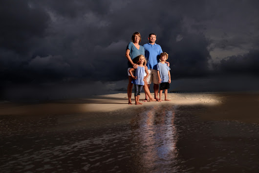 Dramatic Lighting Family Session | Perdido Key