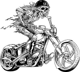 Sketsa Motor Harley