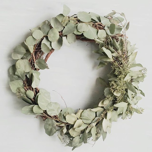"We are now taking orders for our gorgeous, big, 18"" eucalyptus wreaths. They look beautiful indoors or out. These are made to order. If you're local be sure to select ""local pickup"" & when your wreath is ready you can pick it up from the shop. If you're not local, we ship. Just click the link in our Instagram profile or visit gathercreatives.com to buy. You'll have the prettiest door in the neighborhood for sure."