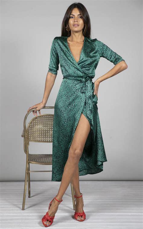 yondal dress  small green leopard print dancing