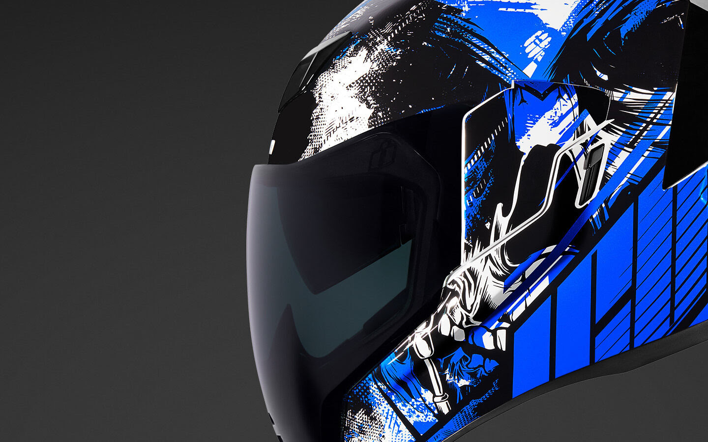 3XL Black Icon Motosports Airflite STIM Full-Face Helmet 3X-Large