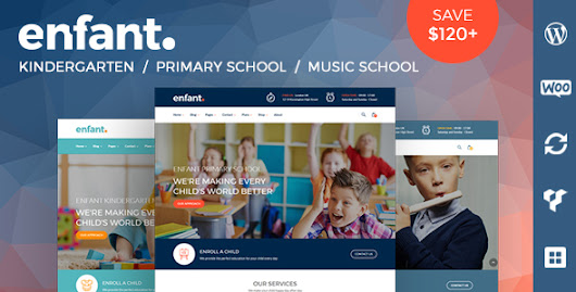Enfant - School and Kindergarten WordPress Theme - Theme88.Com – Free Premium Nulled Cracked Themes & Plugins & PHP Scripts and More
