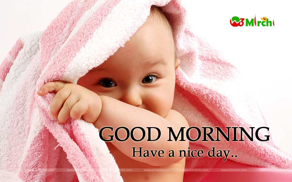 Good Morning Cute Baby Image