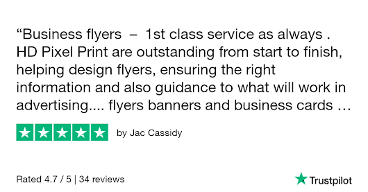 Jac Cassidy gave HD Pixel Print - Litho and Digital Printing Service 5 stars. Check out the full review...