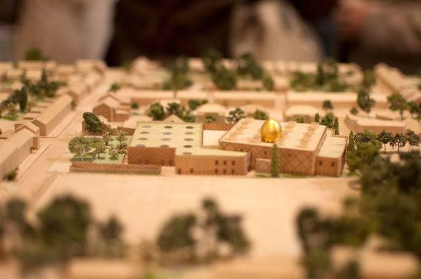 Maquette du projet de construction de la mosquée de Cambridge