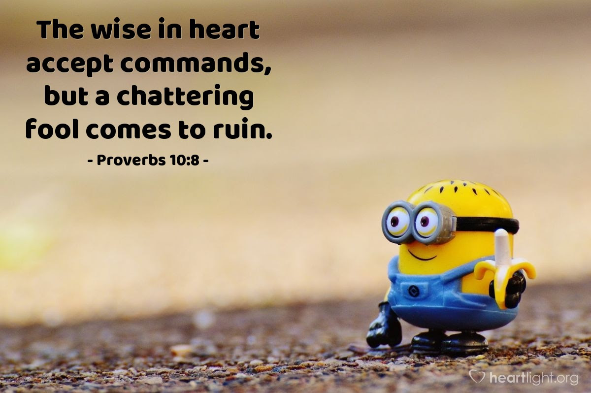 Illustration of Proverbs 10:8