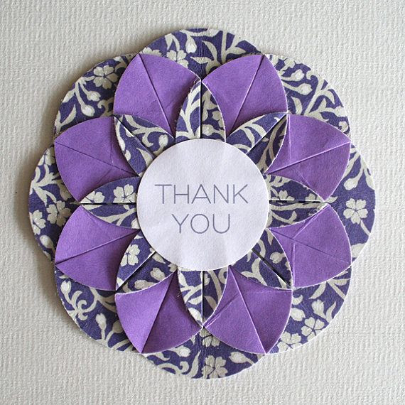 Origami card circles: Postcard with dahlias Paper on March 8 ...