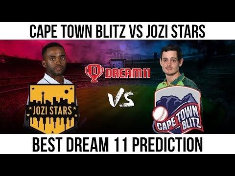 CTB VS JOZ Dream11 Prediction, Live Score & Cape Town Blitz vs Jozi Stars Dream Team: Mzansi Super League 2019, Match 6
