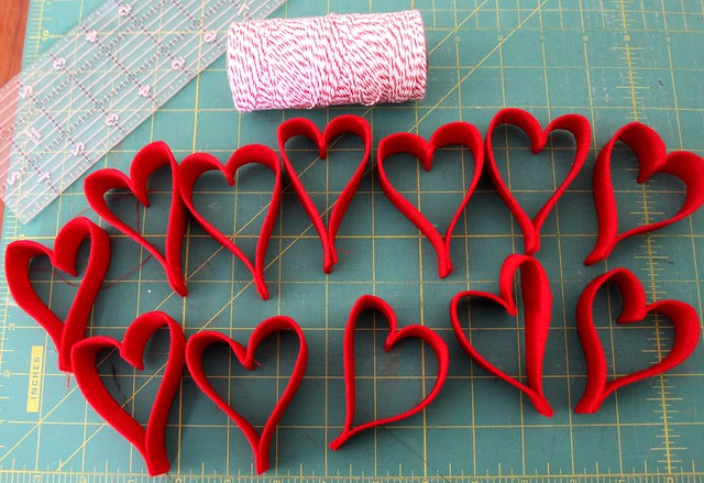 Making hearts!