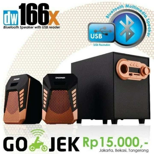 Harga Speaker Dazumba Aktif Portable DW166X Bluetooth Subwoofer BASS