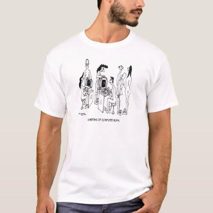 Computer Cartoon 4130 T-Shirt